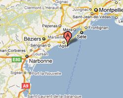 Carte Agde - Le Cap d'Agde