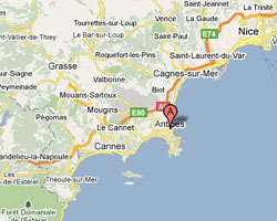 Carte Antibes Juan-les-Pins