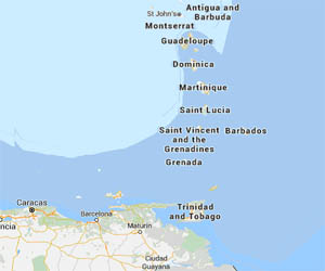 image map Antilles