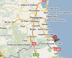 Carte Banyuls-sur-Mer