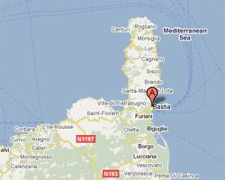 Carte Bastia