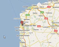 Carte Boulogne-sur-Mer