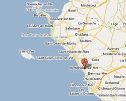 Carte Brétignolles-sur-Mer