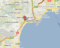 Carte Cagnes-sur-Mer