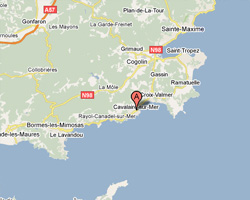 Carte Cavalaire-sur-Mer
