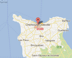 Carte Cherbourg