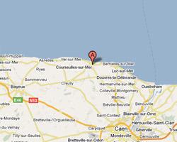 Carte Courseulles-sur-Mer