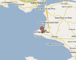 Carte La Plaine-sur-Mer
