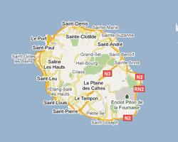 plan île de La Réunion