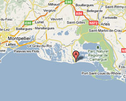 Carte Saintes-Maries-de-la-Mer