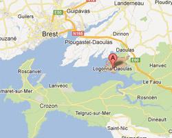 Carte Logonna-Daoulas