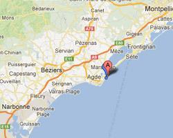 Carte Marseillan-Plage
