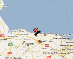 Carte Port-en-Bessin-Huppain
