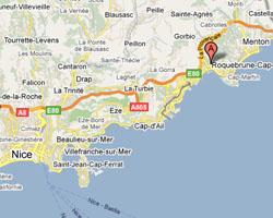 Carte Roquebrune-Cap-Martin