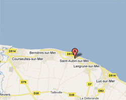 Carte Saint-Aubin-sur-Mer(14)