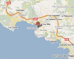 Carte Saint-Cyr-sur-Mer