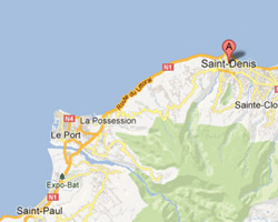 Carte Saint-Denis