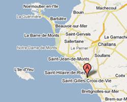 Carte Saint-Gilles-Croix-de-Vie