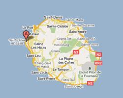 Carte Saint-Gilles-les-Bains