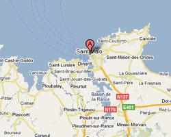 Carte Saint-Malo