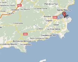 Carte Saint-Tropez