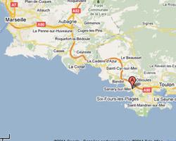 Carte Sanary-sur-Mer