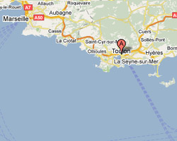 Carte Toulon