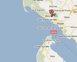 Carte Vaux-sur-Mer