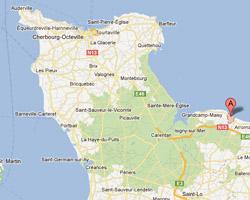 Carte Vierville-sur-Mer