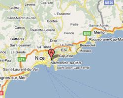 Carte Villefranche-sur-Mer